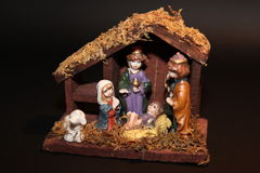 A christmas manger. Royalty Free Stock Photos