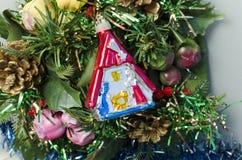 Christmas manger close-up Stock Image