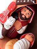 Christmas manger detail Royalty Free Stock Images