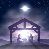 Christmas Manger Nativity Scene Royalty Free Stock Photography