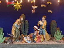 A Christmas manger scene. Shows Christ as a newborn Royalty Free Stock Photos