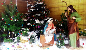 Christmas Manger scene Royalty Free Stock Photography