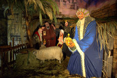 Christmas manger scene Royalty Free Stock Images