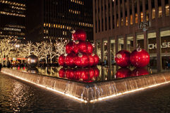 Christmas in Manhattan streets Royalty Free Stock Photo