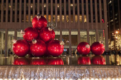 Christmas in Manhattan streets Stock Photo