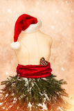 Christmas Mannequin With Santa Hat Stock Photos