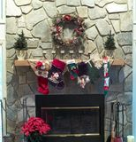 Christmas Mantle Stock Photo