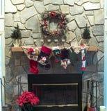 Christmas Mantle Stock Photo