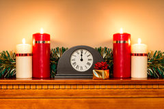 Christmas mantlepiece Royalty Free Stock Photography