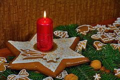 Christmas. In many families the gingerbread baked several times a year, but most often just before Christmas. The magic of gingerbread is not just about great Royalty Free Stock Photography