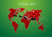 Christmas map vector Stock Photo