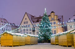Christmas marekt at night Royalty Free Stock Photography