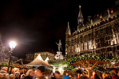 Christmas market in Aachen Stock Photo