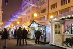 Christmas market, Advent in Zagreb, Croatia royalty free stock images