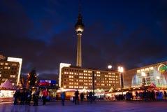 Christmas market at Alexander Platz royalty free stock image