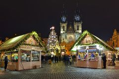 Free Christmas Market At The Old Town Square Of Prague, Czech Republic Stock Photos - 164359493