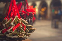 Christmas Market Background Image With Copy Space royalty free stock image