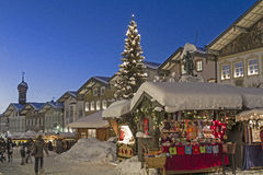 Christmas market in Bad Toelz Stock Photography