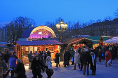 Christmas market baden-baden. Christmas market in Baden-Baden near thermal center Royalty Free Stock Images