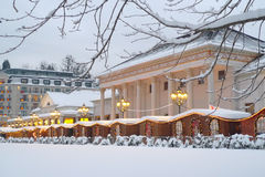 Christmas market baden-baden. Christmas market in Baden-Baden with thermal center Stock Photography
