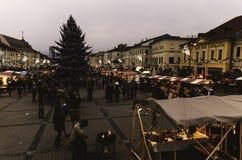 Christmas market. In Banska Bystrica stock image