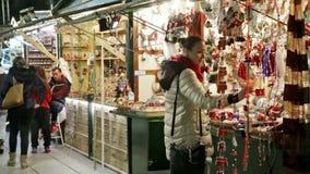 Christmas market stock footage