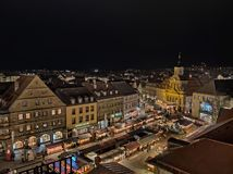 Christmas market in Bayreuth stock image