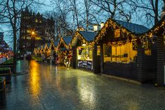 Christmas market at Belfast City Hall and Royalty Free Stock Photos
