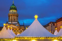 Christmas market in Berlin Stock Photos