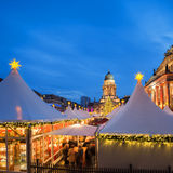 Christmas market in Berlin, text space Royalty Free Stock Photography