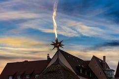Christmas Market -Bethlehem star- Nuremberg-Germany Royalty Free Stock Photo