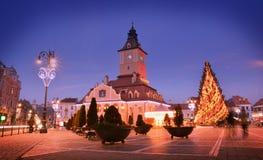 Christmas market Brasov, Romania Royalty Free Stock Photos
