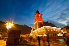 Christmas Market, Brasov, Romania Stock Photo