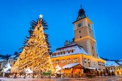 Christmas Market, Brasov, Romania Stock Images
