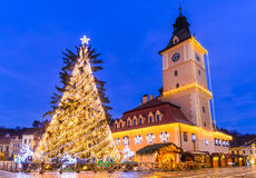 Christmas Market, Brasov, Romania Royalty Free Stock Photos