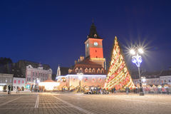 Christmas Market in Brasov, Romania Stock Photo
