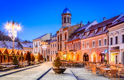 Christmas Market, Brasov, Transylvania, Romania royalty free stock photos