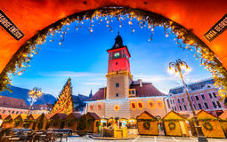 Christmas Market, Brasov, Transylvania - Romania Royalty Free Stock Photos