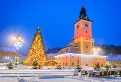 Christmas Market, Brasov, Transylvania - Romania Stock Images