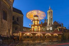 Christmas market in Braunschweig Royalty Free Stock Photo