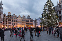 Christmas market in Brussels Royalty Free Stock Photography