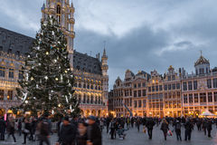 Christmas market in Brussels Royalty Free Stock Images