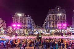 Christmas market in Brussels Royalty Free Stock Image