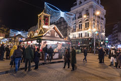 Christmas market in Brussels Stock Photos