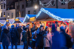 Christmas market in Brussels Royalty Free Stock Photo