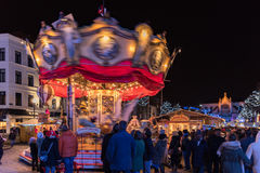 Christmas market in Brussels Stock Image