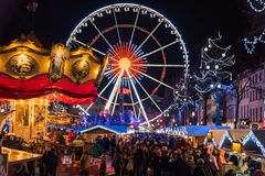 Christmas market in Brussels Stock Photo