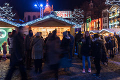 Christmas market in Brussels Stock Photography