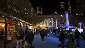 Bryant Park Christmas Market.Bryant Park Christmas Market Stock Footage Video Of York