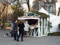 Christmas market in Bucharest, Romania. Royalty Free Stock Photos